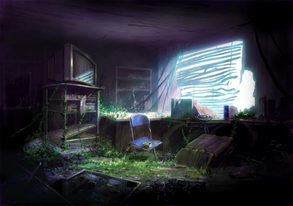 CG背景 廃墟 デジタルの描き方