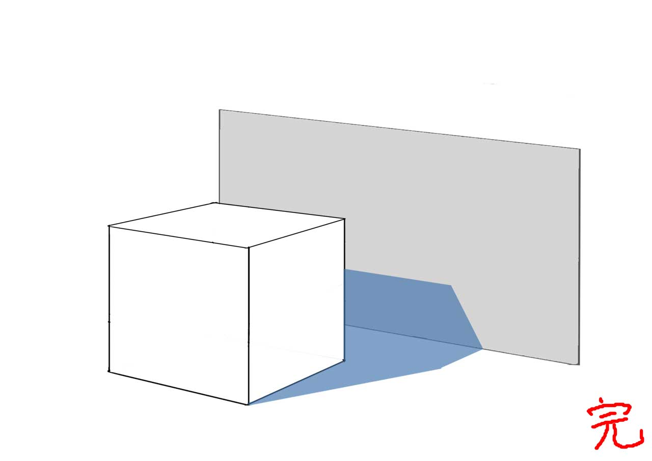影の描き方 影 背景