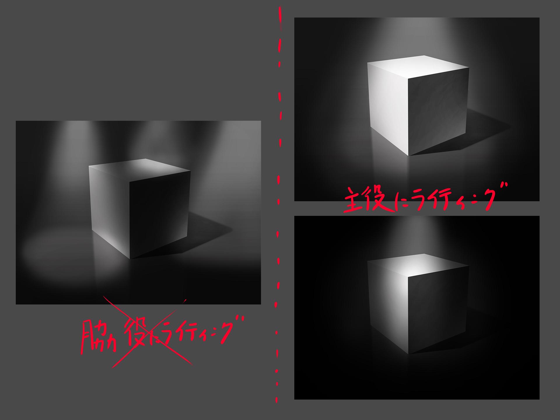 立方体 ライティング 絵作り
