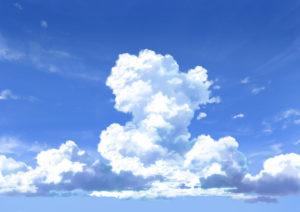 背景 入道雲1 アニメ