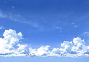 背景 入道雲2 アニメ