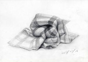 デッサン 布 毛布