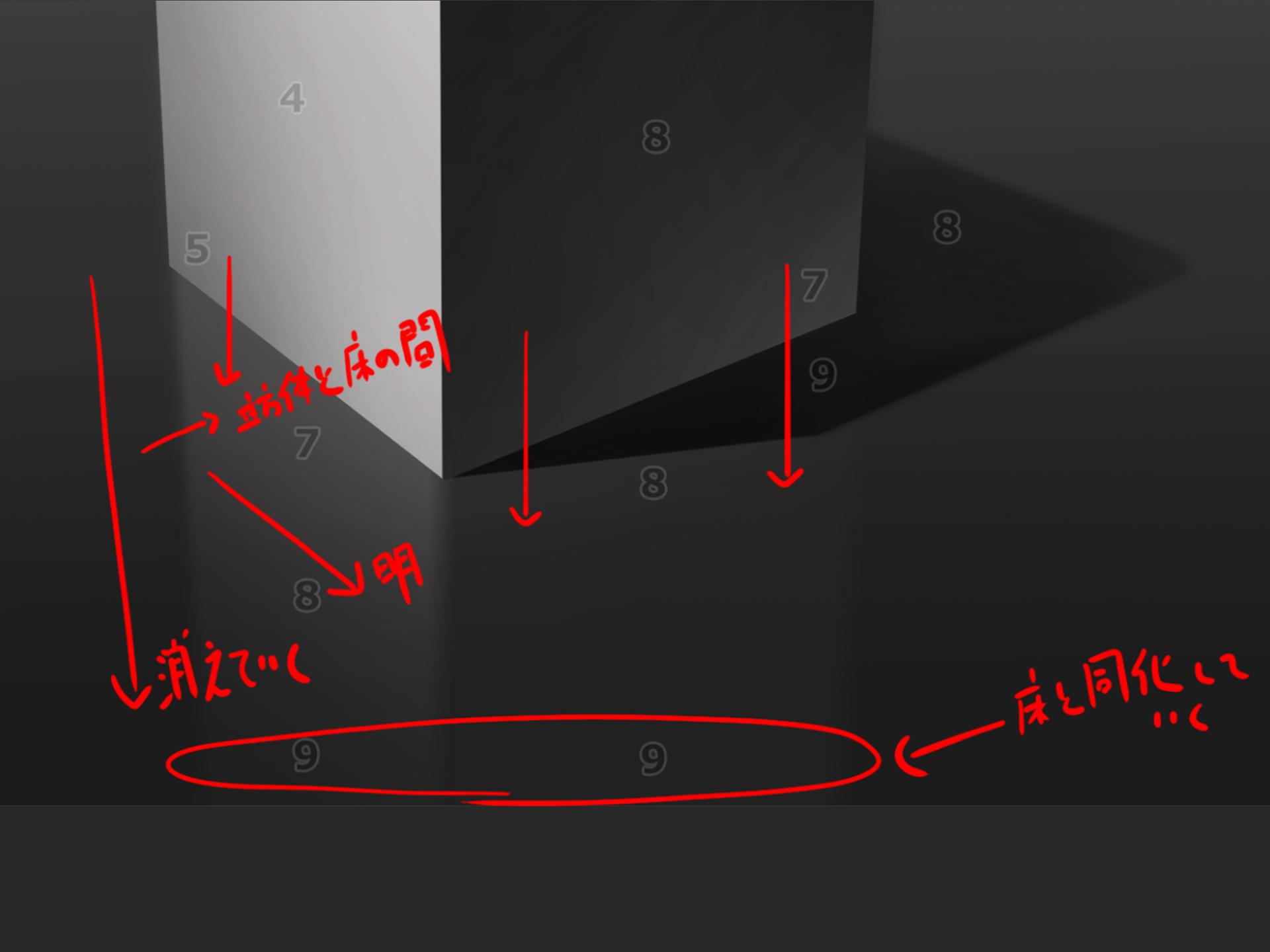 立方体 白黒 写り込み