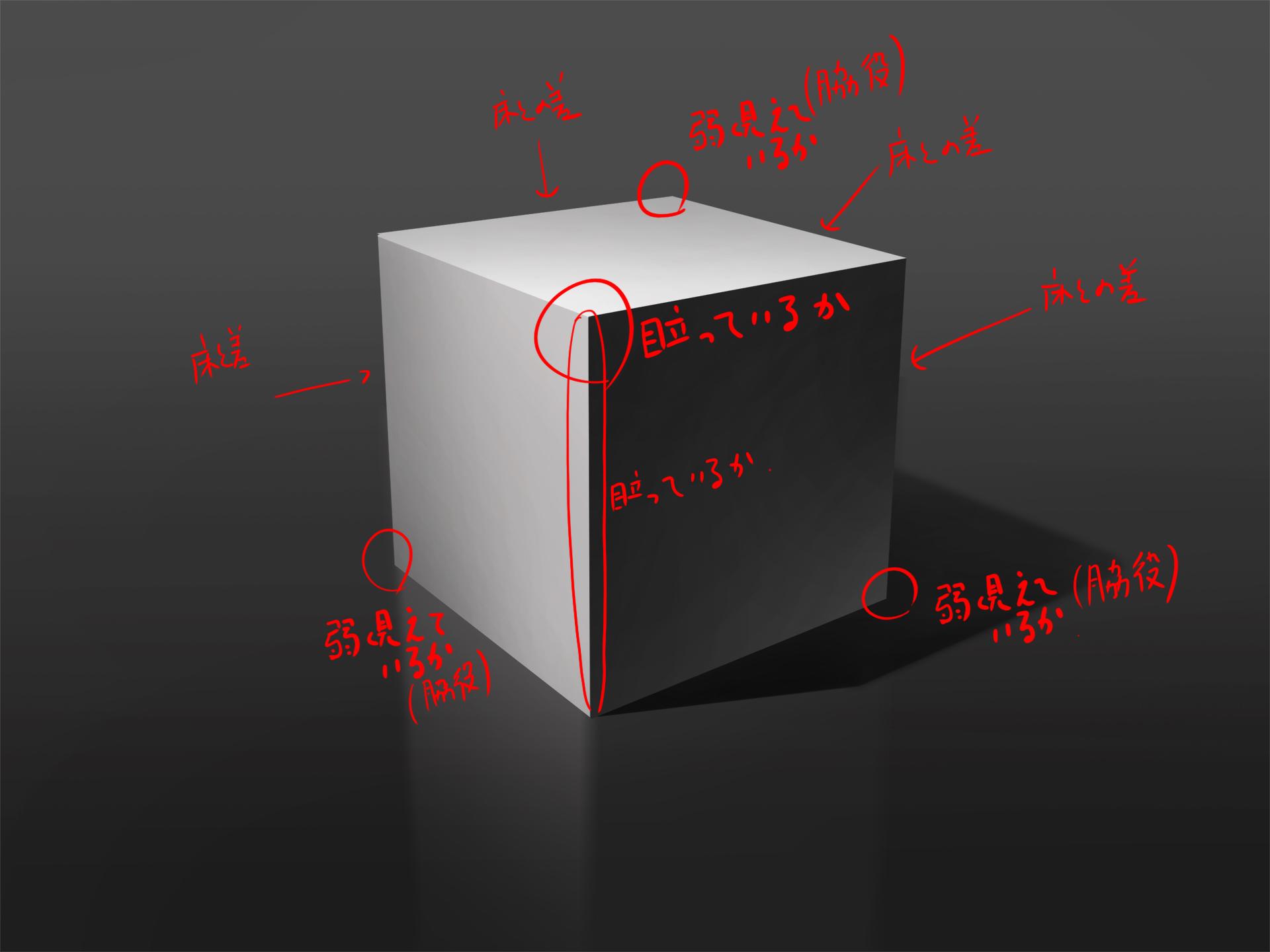 立方体 描き方 間違い