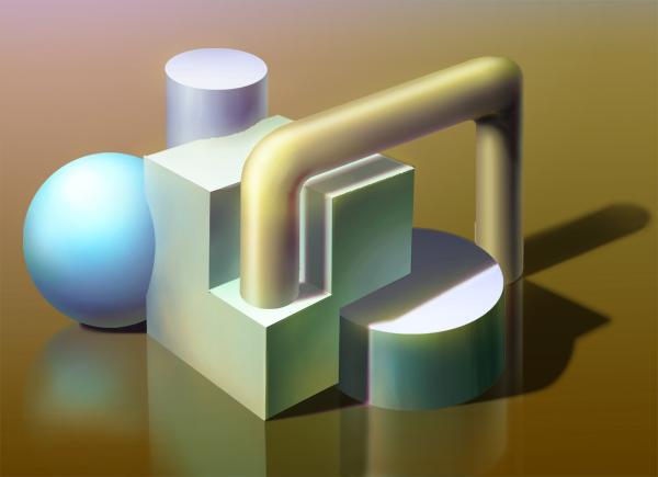 幾何形体 デジタル 複合体