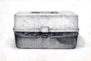デッサン 箱 白黒