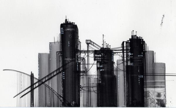 工場 溝引き 地帯