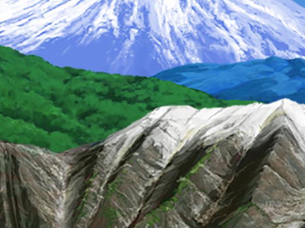 山 富士山 背景